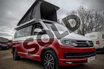 Volkswagen California 2.0 TDI Ocean 199 5dr DSG in Candy White / Cherry Red at Listers Volkswagen Van Centre Worcestershire