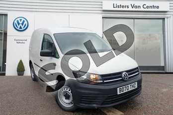 Volkswagen Caddy 2.0 TDI BlueMotion Tech 102PS Startline Van in White at Listers Volkswagen Van Centre Coventry