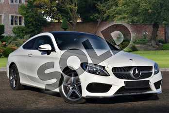 Mercedes-Benz C Class C220d AMG Line Premium 2dr Auto in Polar White at Mercedes-Benz of Lincoln