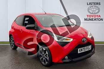 Toyota AYGO 1.0 VVT-i X-Trend TSS 5dr x-shift in Red at Listers Toyota Nuneaton