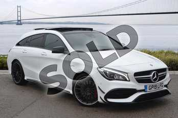 Mercedes-Benz CLA CLA 45 Night Edition Plus 4Matic 5dr Tip Auto in Polar White at Mercedes-Benz of Hull