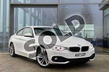 BMW 4 Series 420i xDrive Sport 2dr (Business Media) in Alpine White at Listers King's Lynn (BMW)
