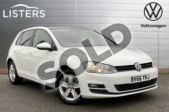 Volkswagen Golf 1.6 TDI 110 Match Edition 5dr in Pure White at Listers Volkswagen Stratford-upon-Avon