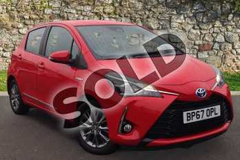 Toyota Yaris 1.5 Hybrid Icon 5dr CVT in Red at Listers Toyota Coventry