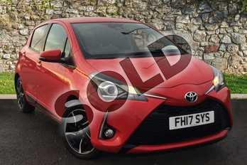 Toyota Yaris 1.5 VVT-i Design 5dr in Red at Listers Toyota Grantham