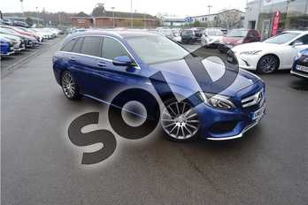 Mercedes-Benz C Class C250d AMG Line Premium Plus 5dr Auto in Metallic - Cavansite blue at Lexus Lincoln