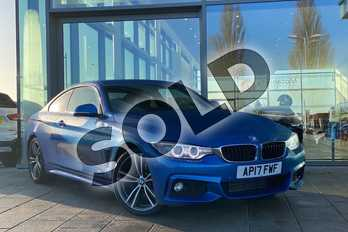 BMW 4 Series 420d (190) M Sport 2dr Auto (Professional Media) in Estoril Blue at Listers King's Lynn (BMW)
