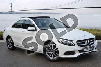 Mercedes-Benz C Class C220d Sport Premium 4dr 9G-Tronic in Polar White at Mercedes-Benz of Hull