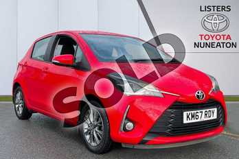 Toyota Yaris 1.5 VVT-i Icon 5dr CVT in Red at Listers Toyota Nuneaton