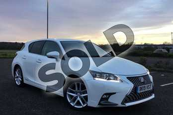 Lexus CT 200h 1.8 5dr CVT in Sonic White at Lexus Coventry