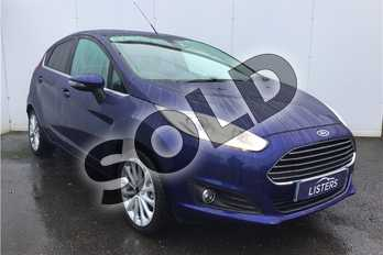 Ford Fiesta 1.0 EcoBoost 125 Titanium X 5dr in Metallic - Deep impact blue at Listers U Solihull