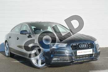 Audi A5 2.0 TDI 177 S Line 5dr Multitronic (5 Seat) in Phantom Black, pearl effect at Coventry Audi