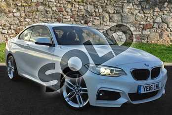 BMW 2 Series 220d (190) xDrive M Sport 2dr Step Auto in White at Lexus Coventry