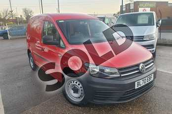 Volkswagen Caddy 2.0 TDI BlueMotion Tech 102PS Startline Van in Red at Listers Volkswagen Van Centre Coventry