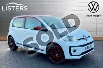 Volkswagen Up 1.0 High Up 5dr in Pure white at Listers Volkswagen Stratford-upon-Avon