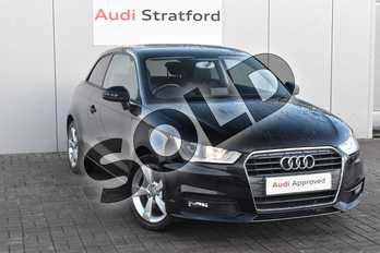 Audi A1 1.6 TDI Sport 3dr in Brilliant Black at Stratford Audi