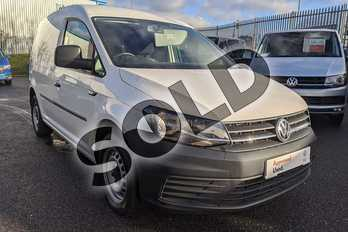 Volkswagen Caddy 2.0 TDI BlueMotion Tech 75PS Startline Van in White at Listers Volkswagen Van Centre Worcestershire