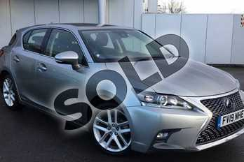 Lexus CT 200h 1.8 5dr CVT in Sonic Titanium at Lexus Lincoln