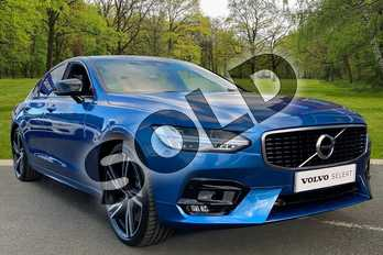 Volvo S90 2.0 D5 R DESIGN Plus 4dr AWD Geartronic in Bursting Blue at Listers Volvo Worcester