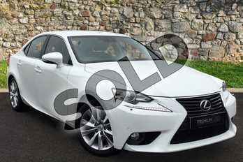 Lexus IS 300h Luxury 4dr CVT Auto in Arctic Pearl at Lexus Coventry