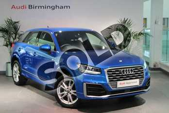 Audi Q2 35 TFSI S Line 5dr S Tronic in Ara Blue Crystal Effect at Birmingham Audi