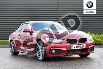 BMW 4 Series 430d M Sport 2dr Auto (Professional Media) in Flamenco Red at Listers Boston (BMW)