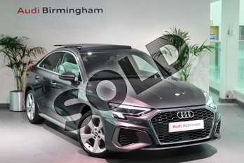 Audi A3 35 TFSI S line 4dr S Tronic in Daytona Grey Pearlescent at Birmingham Audi