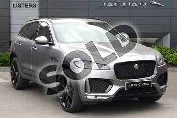 Jaguar F-PACE 2.0d (180) Chequered Flag 5dr Auto AWD in Eiger Grey at Listers Jaguar Droitwich