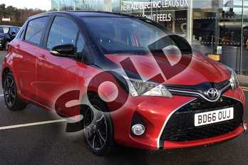 Toyota Yaris 1.33 VVT-i Design 5dr in Red/black Bi Tone at Listers Toyota Lincoln
