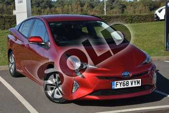 Toyota Prius Business Edition 5 dr With Navigation Fitted in Red at Listers Toyota Lincoln
