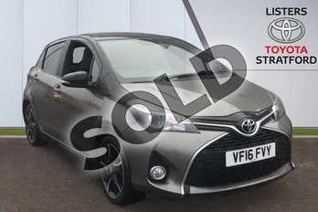 Toyota Yaris 1.33 VVT-i Design 5dr CVT in Brown at Listers Toyota Stratford-upon-Avon