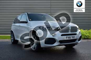 BMW X5 xDrive40d M Sport 5dr Auto (7 Seat) in Mineral White at Listers Boston (BMW)