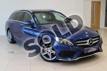 Mercedes-Benz C Class C220d AMG Line Premium 5dr Auto in Metallic - Cavansite blue at Listers U Northampton