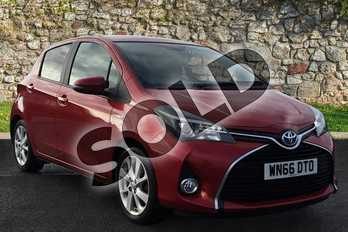 Toyota Yaris 1.5 Hybrid Excel 5dr CVT in Red at Listers Toyota Grantham