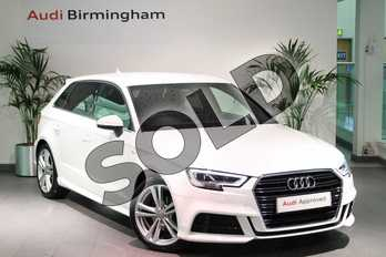 Audi A3 1.5 TFSI S Line 5dr in Ibis White at Birmingham Audi