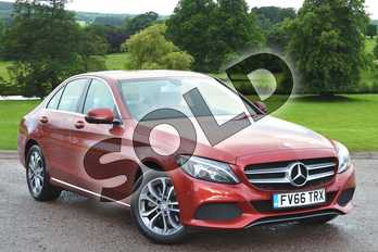 Mercedes-Benz C Class C200 Sport 4dr Auto in designo Hyacinth Red Metallic at Mercedes-Benz of Grimsby