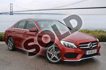Mercedes-Benz C Class C250d AMG Line Premium Plus 4dr 9G-Tronic in designo hyacinth red metallic at Mercedes-Benz of Hull