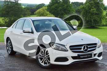 Mercedes-Benz C Class C200 Sport 4dr 9G-Tronic in Polar White at Mercedes-Benz of Grimsby