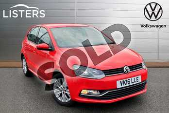 Volkswagen Polo 1.2 TSI SE 5dr in Flash Red at Listers Volkswagen Stratford-upon-Avon