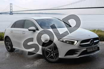 Mercedes-Benz A Class A250e AMG Line Premium 5dr Auto in digital white metallic at Mercedes-Benz of Hull