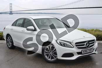 Mercedes-Benz C Class C250d Sport 4dr Auto in Polar White at Mercedes-Benz of Hull
