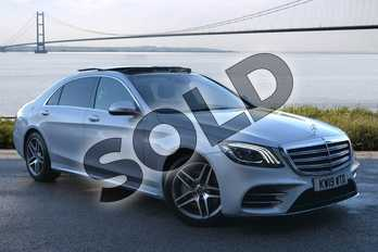 Mercedes-Benz S Class S350d L AMG Line Executive 4dr 9G-Tronic in Iridium Silver metallic at Mercedes-Benz of Hull