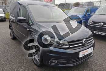 Volkswagen Caddy 2.0 TDI BlueMotion Tech 102PS Highline Nav Van in Starlight Blue at Listers Volkswagen Van Centre Worcestershire