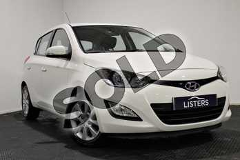 Hyundai i20 1.2 Active 5dr in Solid - Coral white at Listers U Stratford-upon-Avon