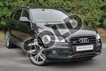 Audi Q5 SQ5 Plus Quattro 5dr Tip Auto in Panther Black Crystal Effect at Worcester Audi