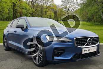 Volvo V60 2.0 T5 R DESIGN Pro 5dr Auto in Bursting Blue at Listers Volvo Worcester