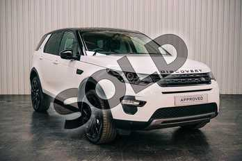 Land Rover Discovery Sport 2.0 TD4 (180hp) HSE Black in Fuji White at Listers Land Rover Solihull