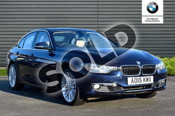 BMW 3 Series 320i Luxury 4dr Step Auto (Business Media) in Imperial Blue Xirallic at Listers Boston (BMW)