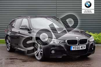 BMW 3 Series 330d M Sport 5dr Step Auto in Black Sapphire metallic paint at Listers Boston (BMW)
