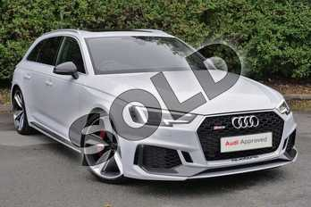 Audi RS4 2.9 TFSI Quattro Carbon Edition 5dr Tip tronic in Glacier White Metallic at Worcester Audi